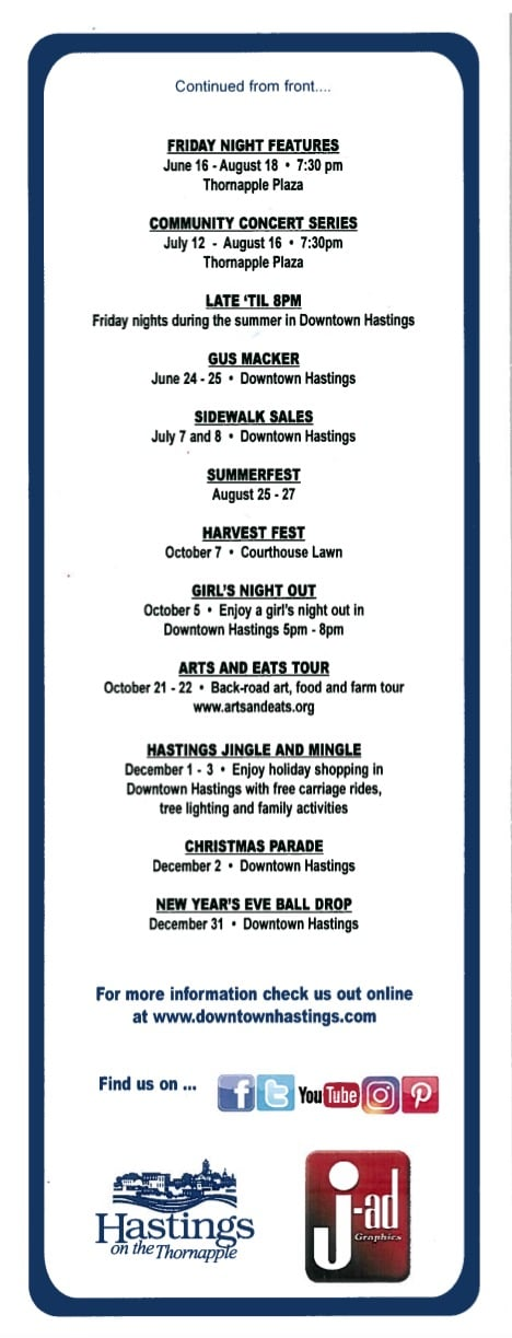 More City of Hastings 2017 Events